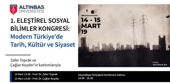 14.03.2019 Modern Türkiyede Tarih, Kültür ve Siyaset
