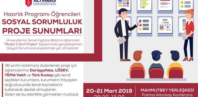 20-21.03.2019 Hazırlık Öğrencileri Proje Sunumları