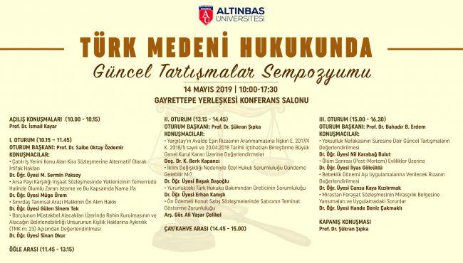 14.05.2019 Türk Medeni Hukukunda Güncel Tartışmalar
