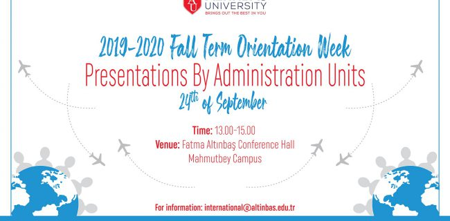 24.09.2019 Fall Term Orientation