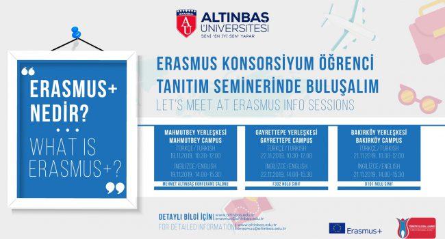 19-21.11.2019 Erasmus Tanıtım Seminerleri