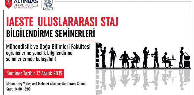 17.12.2019 IAESTE Uluslararası Staj